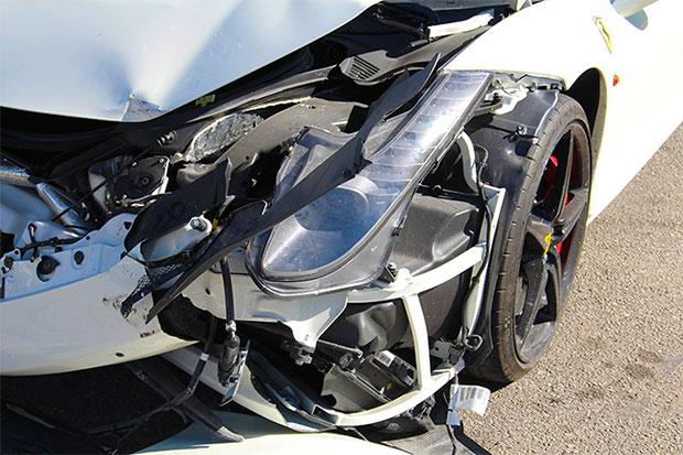 Wrecked Ferrari 458 Spider