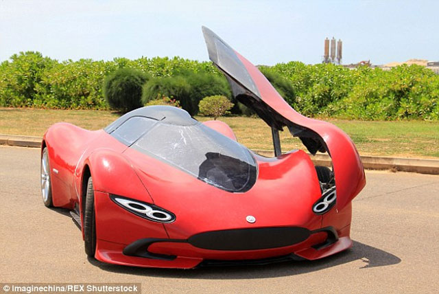 an electric super car built by a chinese student in just 5000 cars flow. Black Bedroom Furniture Sets. Home Design Ideas
