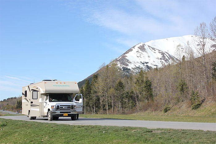 traveling in a motorhome