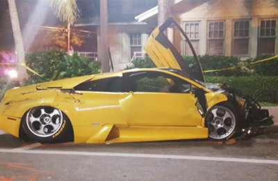 Millionaire Crashes Lamborghini