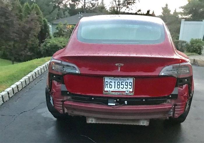 Tesla Model 3 Bumper Couldn't Stand Rain